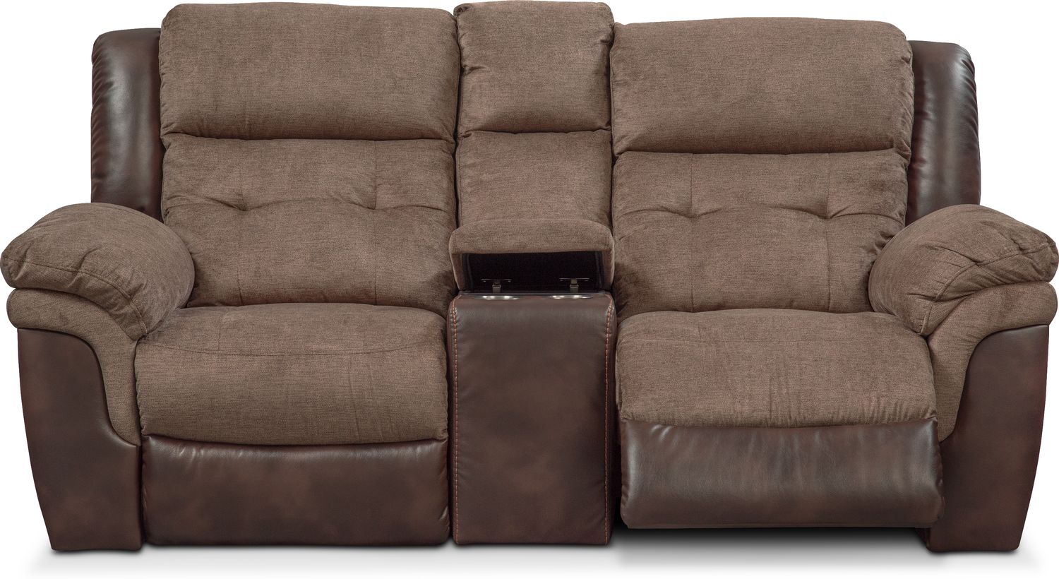 Click to change image. & Tacoma Dual Power Reclining Loveseat with Console - Brown | Value ... islam-shia.org
