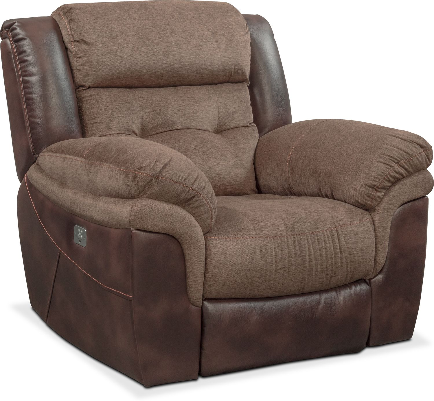 Tacoma Dual Power Recliner Brown Value City Furniture