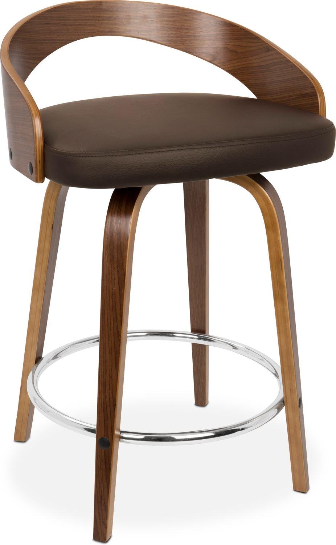 Finn Counter Height Stool Brown Value City Furniture