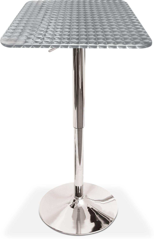 Dining Room Furniture - Fino Adjustable Bar Table - Chrome