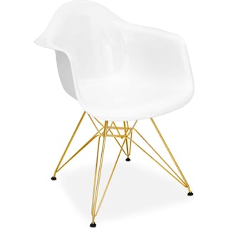 Hanson Accent Chair - White
