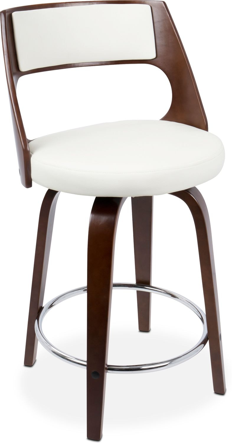 Acton Counter Height Stool White Value City Furniture