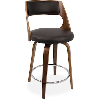 Acton Counter-Height Stool - Brown