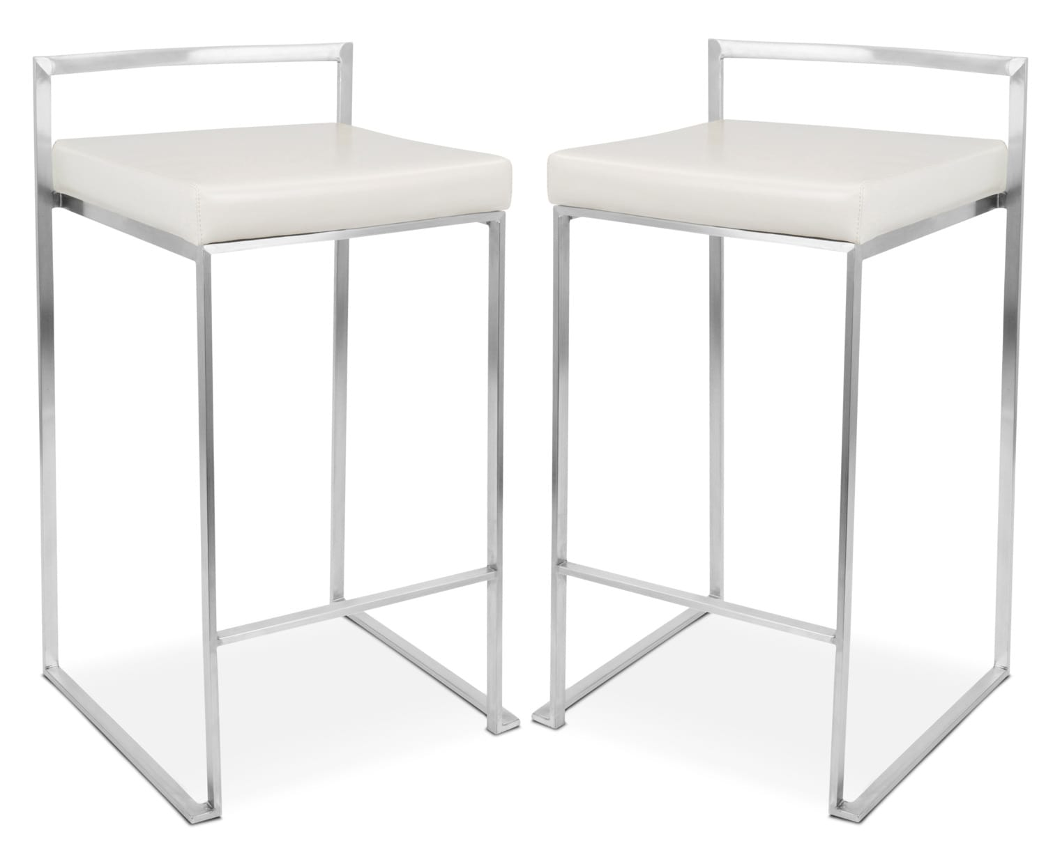 Doric Set Of 2 Counter Height Stools   Cream ...