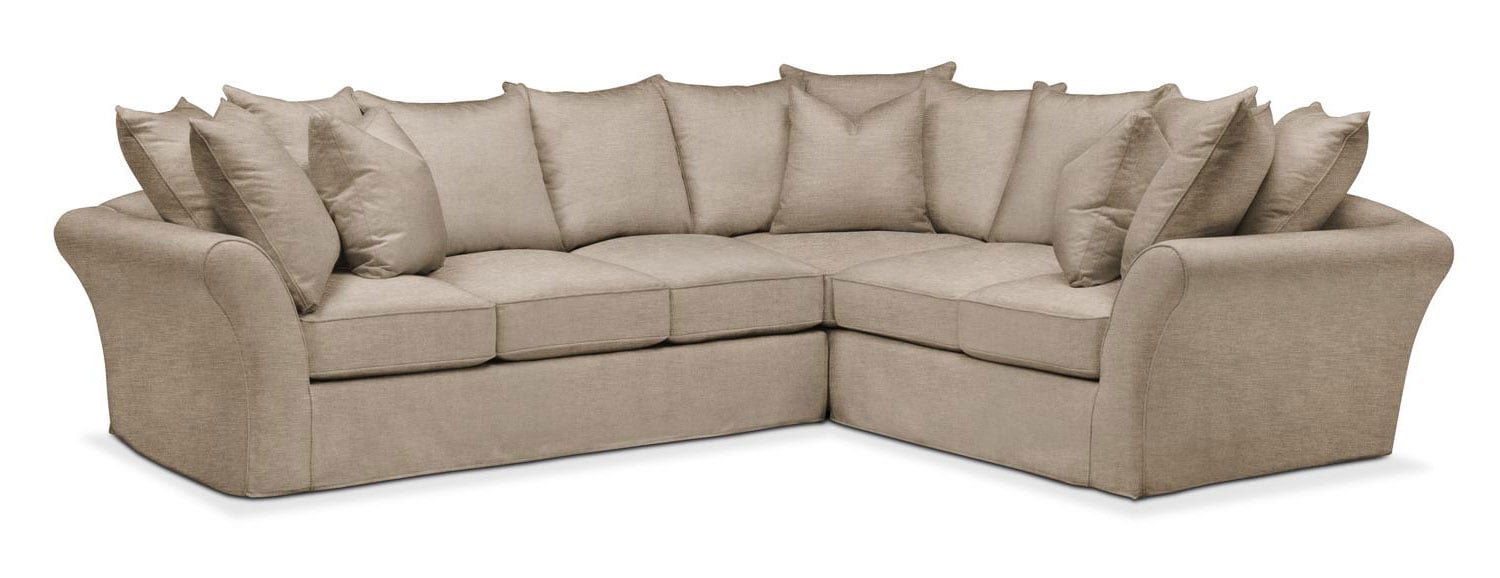 Living Room Furniture   Allison 2 Piece Sectional With Left Facing Sofa    Cumulus