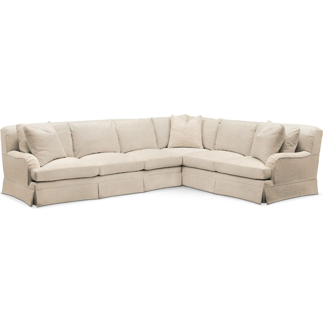 Living Room Furniture Campbell 2 Piece Sectional With Sofa