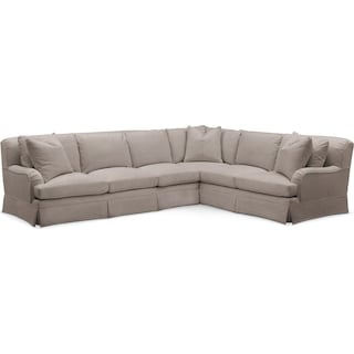 Campbell 2 Pc. Sectional with Left Arm Facing Sofa- Cumulus in Abington TW Fog