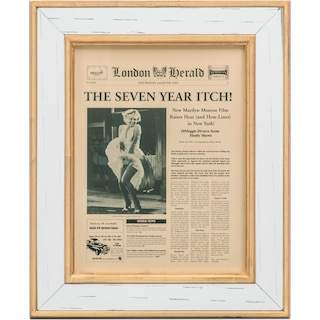 Seven Year Itch Framed Print