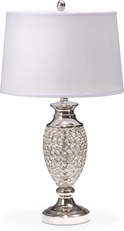 crystal urn table lamp