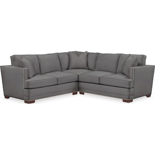 Arden 2 Pc. Sectional with Left Arm Facing Loveseat- Cumulus in Hugo Graphite