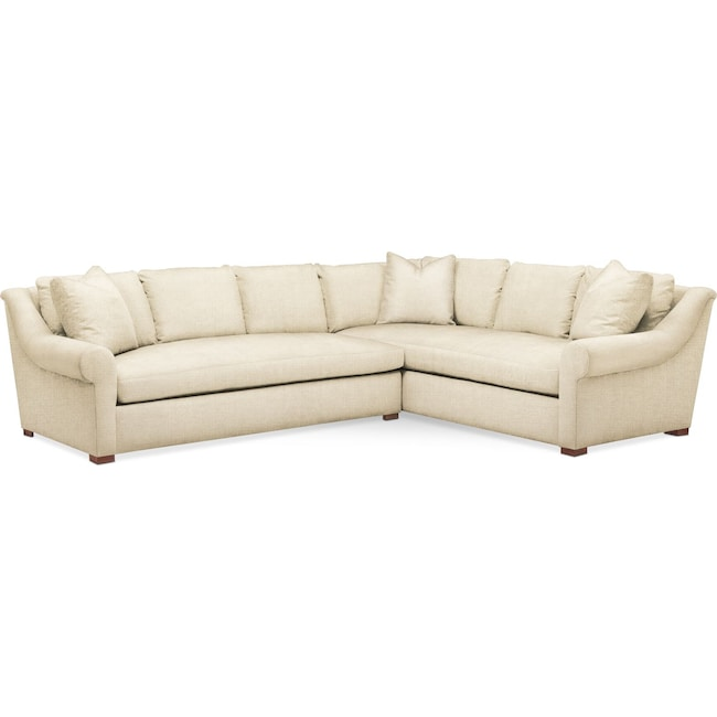 Living Room Furniture - Asher 2-Piece Sectional with Left-Facing Sofa - Comfort in Anders Cloud