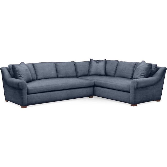 Living Room Furniture - Asher 2 Pc. Sectional with Left Arm Facing Sofa- Comfort in Curious Eclipse