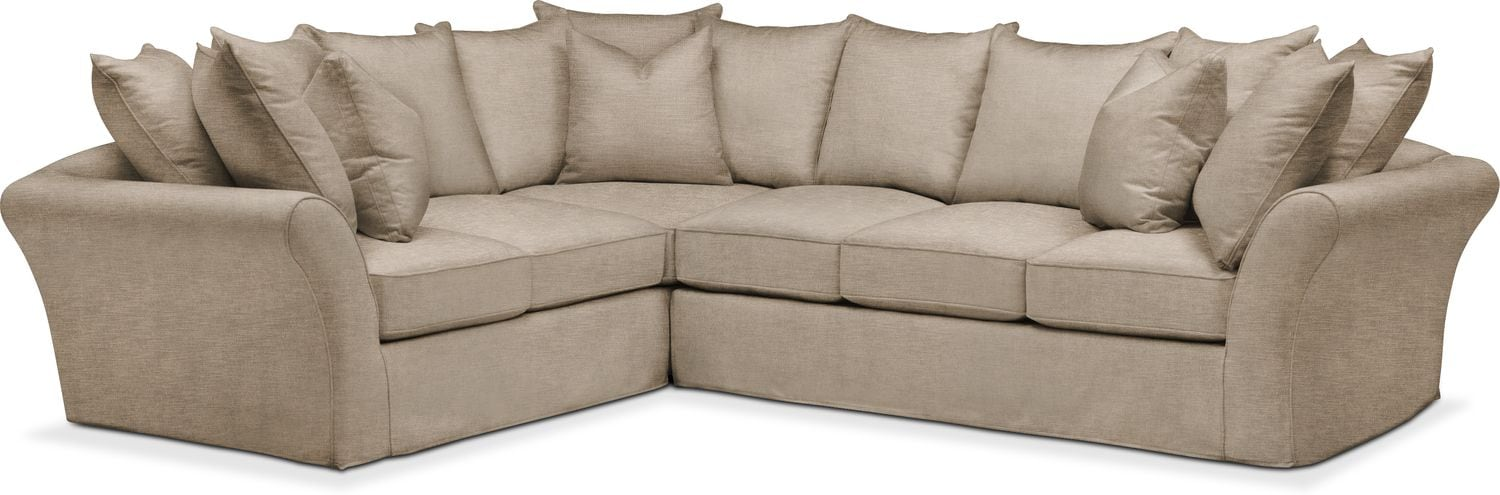 Living Room Furniture   Allison 2 Piece Sectional With Right Facing Sofa    Cumulus