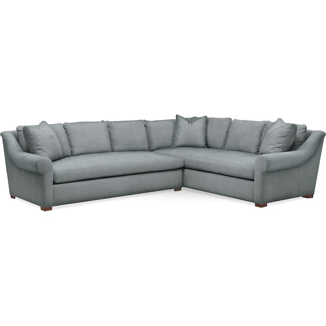 Living Room Furniture - Asher 2-Piece Sectional with Left-Facing Sofa - Comfort in Abington TW Seven Seas