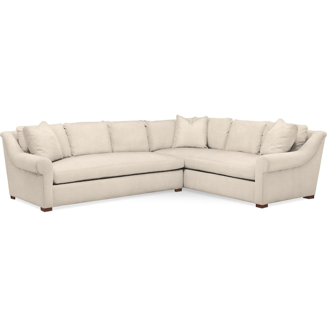 Living Room Furniture - Asher 2-Piece Sectional with Left-Facing Sofa - Comfort in Curious Pearl