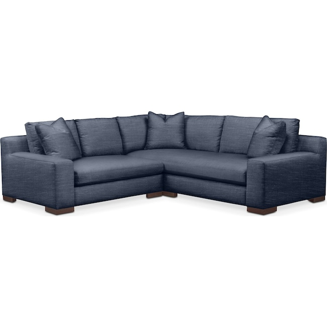 Living Room Furniture - Ethan Comfort 2-Piece Small Sectional with Left-Facing Loveseat - Curious Eclipse