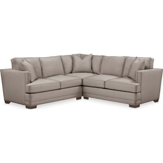Arden 2 Pc. Sectional with Left Arm Facing Loveseat- Cumulus in Abington TW Fog