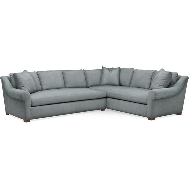 Living Room Furniture - Asher 2 Pc. Sectional with Left Arm Facing Sofa- Cumulus in Abington TW Seven Seas