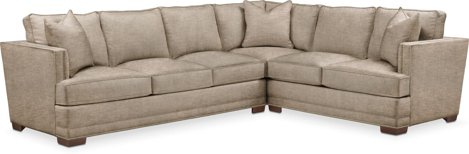 Living Room Furniture   Arden 2 Piece Sectional With Left Facing Sofa    Cumulus