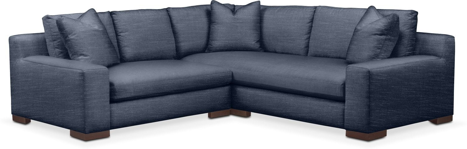 Living Room Furniture - Ethan Cumulus 2-Piece Small Sectional with Left-Facing Loveseat - Curious Eclipse