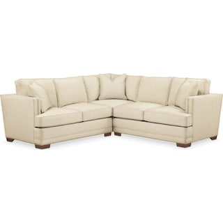 Arden 2 Pc. Sectional with Left Arm Facing Loveseat- Cumulus in Anders Cloud