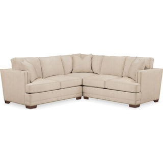 Arden 2 Pc. Sectional with Left Arm Facing Loveseat- Cumulus in Dudley Buff