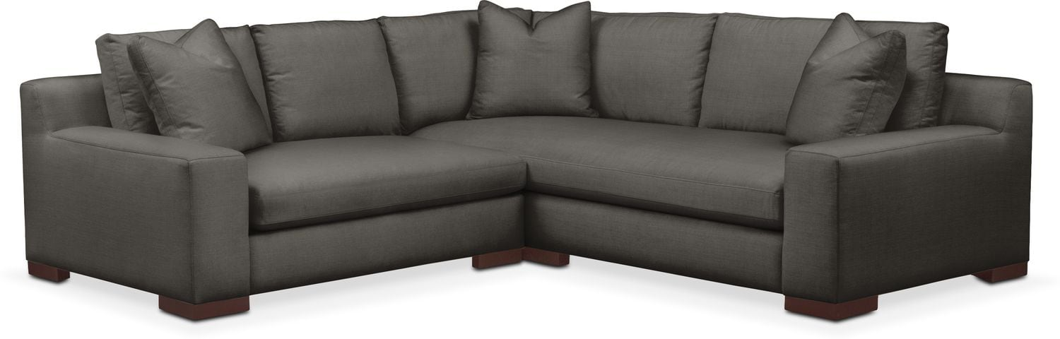 Living Room Furniture - Ethan Comfort 2-Piece Small Sectional with Left-Facing Loveseat - Statley L Sterling
