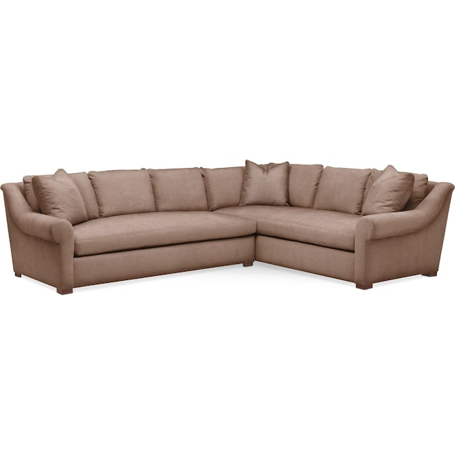 Living Room Furniture - Asher 2 Pc. Sectional with Left Arm Facing Sofa- Cumulus in Abington TW Antler