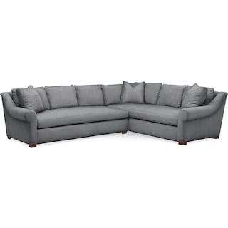 Asher 2 Pc. Sectional with Left Arm Facing Sofa- Comfort in Depalma Charcoal