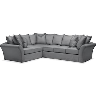 Allison 2 Pc. Sectional with Right Facing Sofa- Cumulus in Charcoal