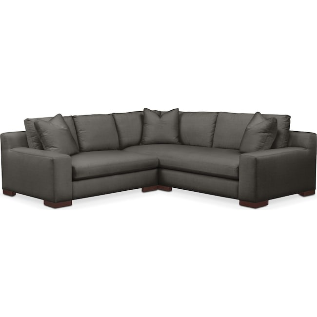 Living Room Furniture - Ethan Cumulus 2-Piece Small Sectional with Left-Facing Loveseat - Statley L Sterling