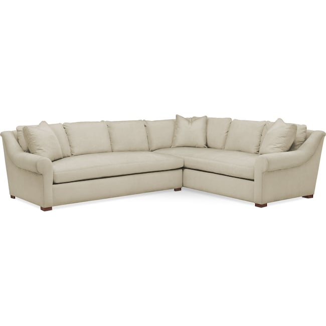Living Room Furniture - Asher 2 Pc. Sectional with Left Arm Facing Sofa- Comfort in Abington TW Barley