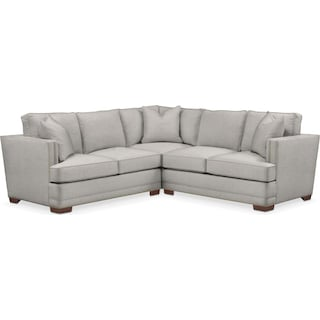 Arden 2 Pc. Sectional with Left Arm Facing Loveseat- Cumulus in Dudley Gray
