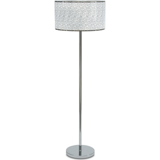 Silver Circles Floor Lamp