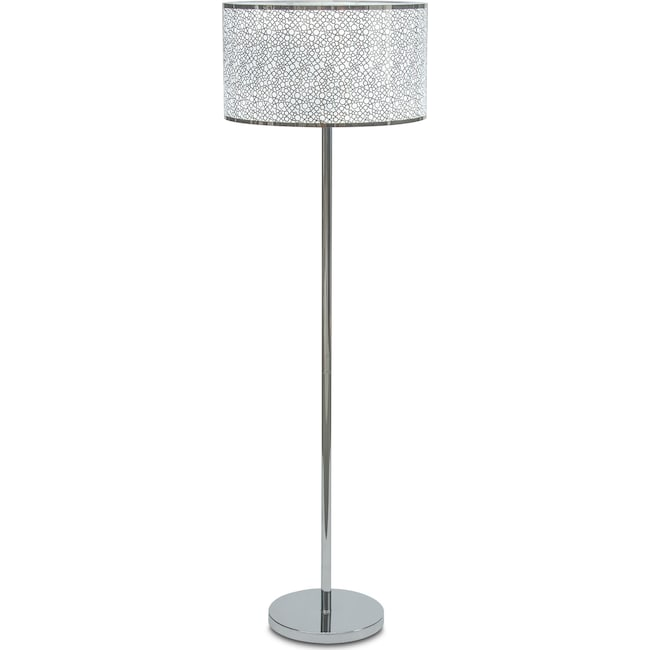 Home Accessories - Silver Circles Floor Lamp