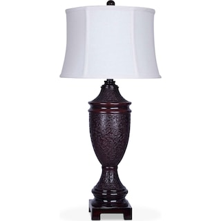 Brown Urn Table Lamp