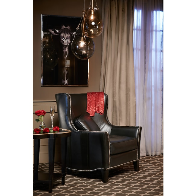 Living Room Furniture - Fenwick Accent Chair - Black