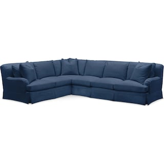 Campbell 2 Pc. Sectional with Right Arm Facing Sofa- Cumulus in Hugo Indigo