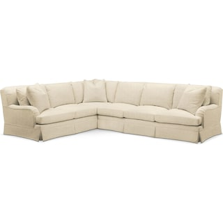 Campbell 2 Pc. Sectional with Right Arm Facing Sofa- Cumulus in Anders Cloud
