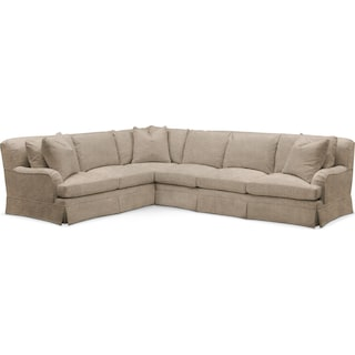 Campbell 2 Pc. Sectional with Right Arm Facing Sofa- Cumulus in Dudley Burlap