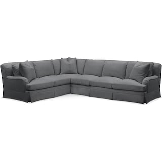 Campbell 2 Pc. Sectional with Right Arm Facing Sofa- Comfort in Depalma Charcoal