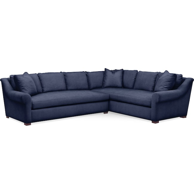 Living Room Furniture - Asher 2-Piece Sectional with Left-Facing Sofa - Cumulus in Oakley III Ink