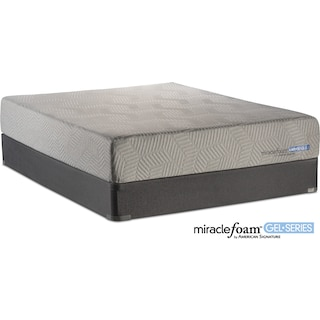 Invigorate Plush Queen Mattress and Foundation Set