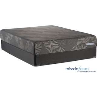 Serenity Cushion Firm Full Mattress and Foundation Set