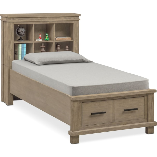 Bedroom Furniture - Tribeca Youth Full Bookcase Storage Bed