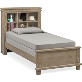 Tribeca Youth Full Bookcase Bed - Gray