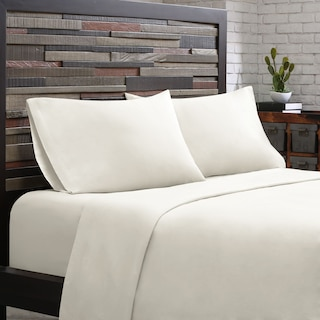 Queen 300 Thread Count Cotton Sheet Set - White