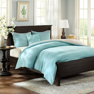 Harbor King Linen Duvet Cover and Sham Set - Blue