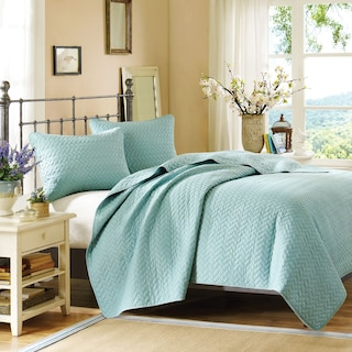 Hampton Hill Queen Coverlet and Sham Set - Sky