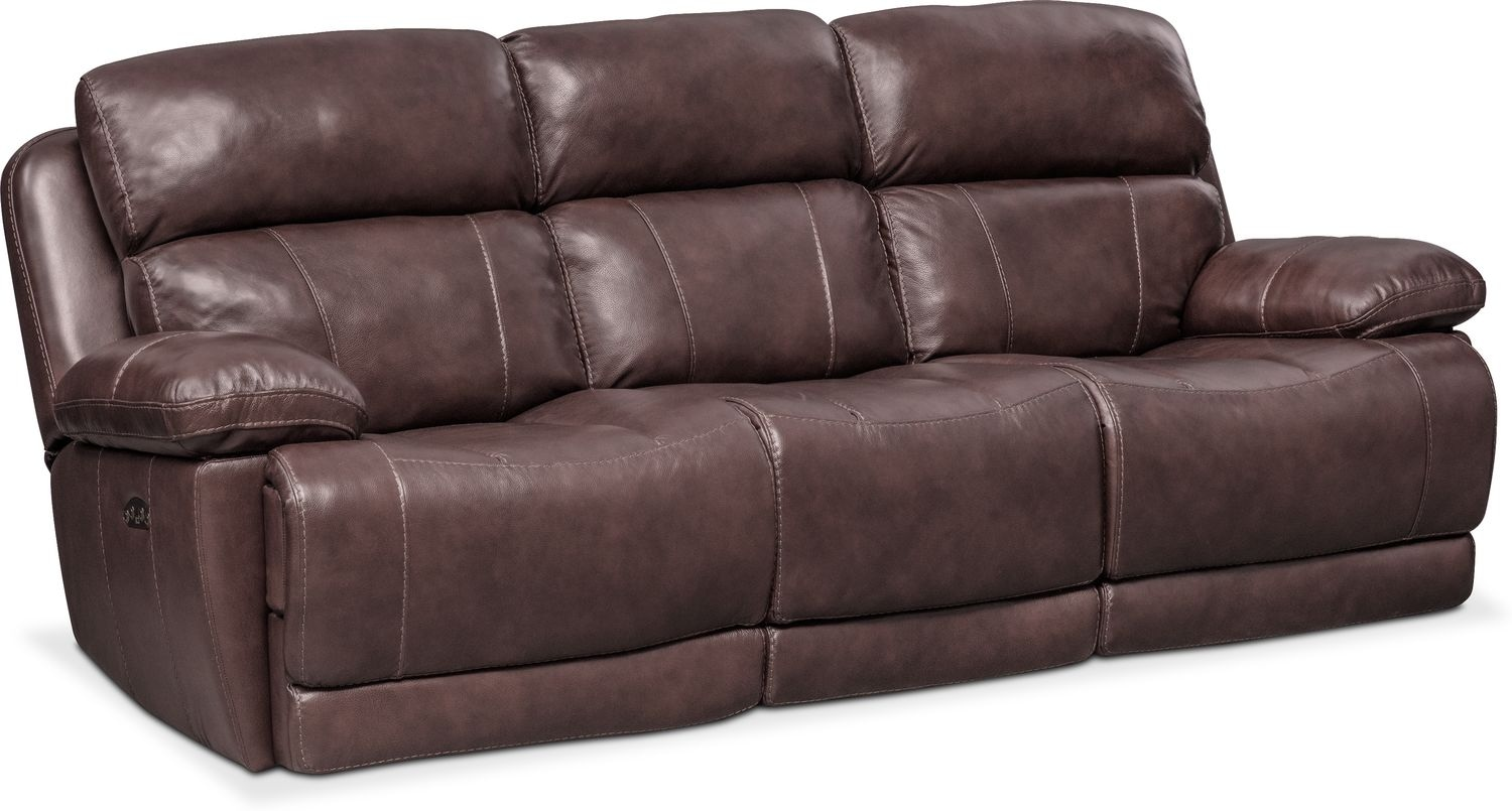 Monte Carlo Dual Power Reclining Sofa   Chocolate